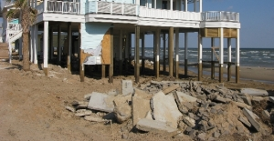 Sand washed away under the foundation